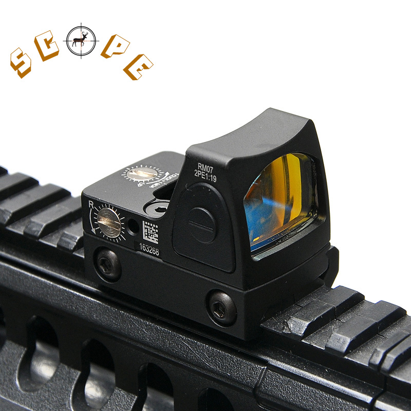 Trijicon Mini RMR Red Dot Sight Collimator Glock / Rifle Reflex Sight Scope fit 20mm Weaver Rail For Airsoft / Hunting Rifle<br>