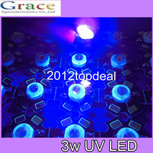 10pcs 3W High Power LED UV Light Chip 365nm 375NM 385nm 395nm 400nm 415nm 430nm Ultra Violet with 20mm star pcb DIY