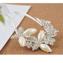 10pcs/lot Free Shipping Fashion Jewelry Pearl with rhinestones Butterfly Hairclips Ornament Wedding accessory  Bride Hair wear