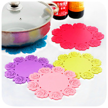Anti Heat Waterproof Bowl Silicone Mat Kitchen Table Placemats Rubber Mat Protective Mat Drying Dishes Dining Mat Cup Pad Holder