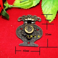 40*51MM 50pcs Zinc alloy buckle for antique wooden wine jewelry box latch padlock DIY carved drawers cabinet hardware hasp