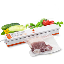 Household Vacuum Food Sealers Vacuum Packing Machine 220V Free Provided 15pcs Vacuum Bags(China)