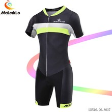 Malciklo Fluor Cycling Clothing 2017 Short Jumpsuit Men Elasticity Fabric Tight road Bike Jerseys Coverall Bicycle Suit