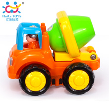 1PC HUILE TOYS 326D High Quality Best Toy Set Truck Toy Cementruck Truck Inertia Engineering Car Toys for Children Boys Gifts