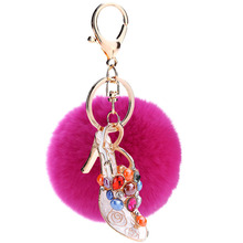 2017 Limited Sale Porte Clef Mobile Phone Pendant Key Bag Sandals Rex Maomao Fuzz Key Chain One Generation