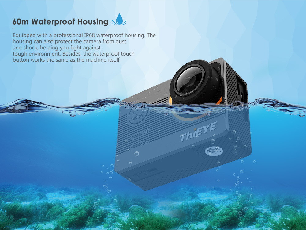 ThiEYE E7 Native 4K WiFi Sports Action Video Camera 20MP HD with 2 inch IPS Screen