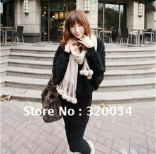 1pcs,2012 new autumn South Korea lovely bayberry ball women scarf fashion style / shawl , multicolor, Free Shipping(China)