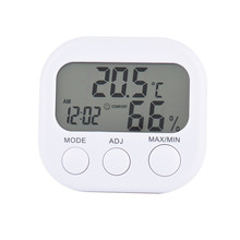 Mini Digital Thermometer Hygrometer Indoor LCD Display Thermo Hygrometers With Stand For Home Wholesale(China)