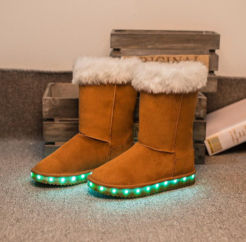 real original womens australia brand snow boots Winter warm snow boots USB charging LED light shoes for women warm light shoes<br><br>Aliexpress