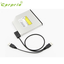 CARPRIE External USB Cable Adapter Converter to SATA 6+7 13Pin For DVD Rom Optical Drive Mar13 MotherLander