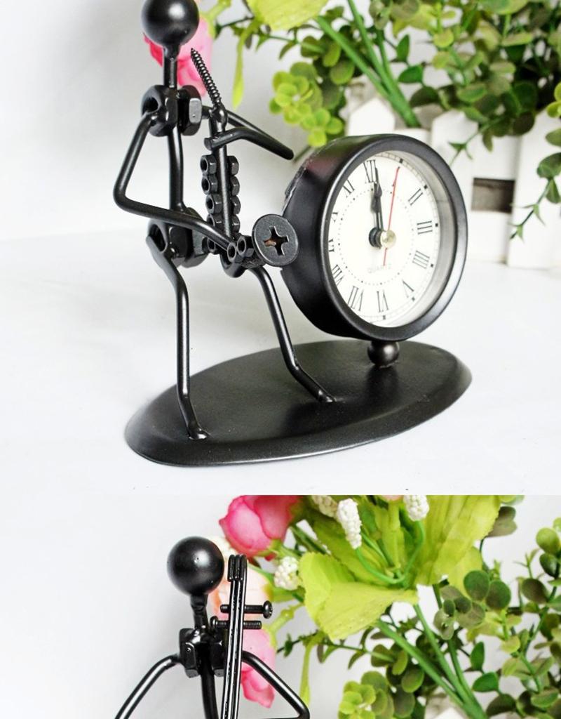 clock bicycle bureau kalender mesa vintage ahşap saat circular wood azan wall clock retro bamboo clock clock with pendulum clock humidity (4)