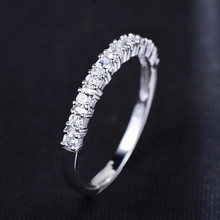 Lose money promotion wholesale romantic forever love super shiny zircon 30% percent silver plated ladies`finger rings(China)