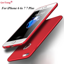 Buy PC Full Phone Case iPhone 6 Cases 5s 6s 6 plus 6s 5 SE iPhone 7 Plus Red Cases Hard Back Plastic Matte Cover Fundas Capa for $1.29 in AliExpress store