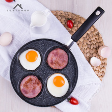 Life83 Creative Non-stick Eggs Ham PanCake Maker Frying Pans No Oil-smoke Breakfast 4 in 1 Grill Pan Gas Cooker