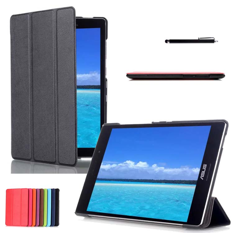 Classic Ultra Slim Lightweight Smart Cover PU leather Hard Back Folio Case for ASUS ZenPad S 8.0 inch Tablet Z580CA / Z580C<br><br>Aliexpress