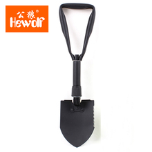 Hewolf Middle Size Folding Shovel Outdoor Camping Shovel Survival with Trowel Tool with Snow Spade Pick Saw portable tools