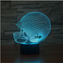 Cleveland Browns Colorful 3D Decor Light LED NFL Football caps LED Lighting Gadget Color Change Table Lamp Night light drop ship