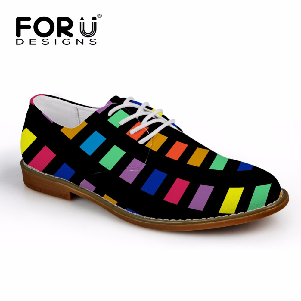 FORUDESIGNS Mens Spring Fashion Oxfords Shoes 3D Printed Oxford Shoes for Men Flats Lace-up Leather Shoes Man  Zapatos Hombre  <br>
