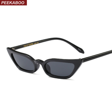 Peekaboo high quality red cat eye sunglasses women small frame black leopard female top selling sun glasses female uv400(China)