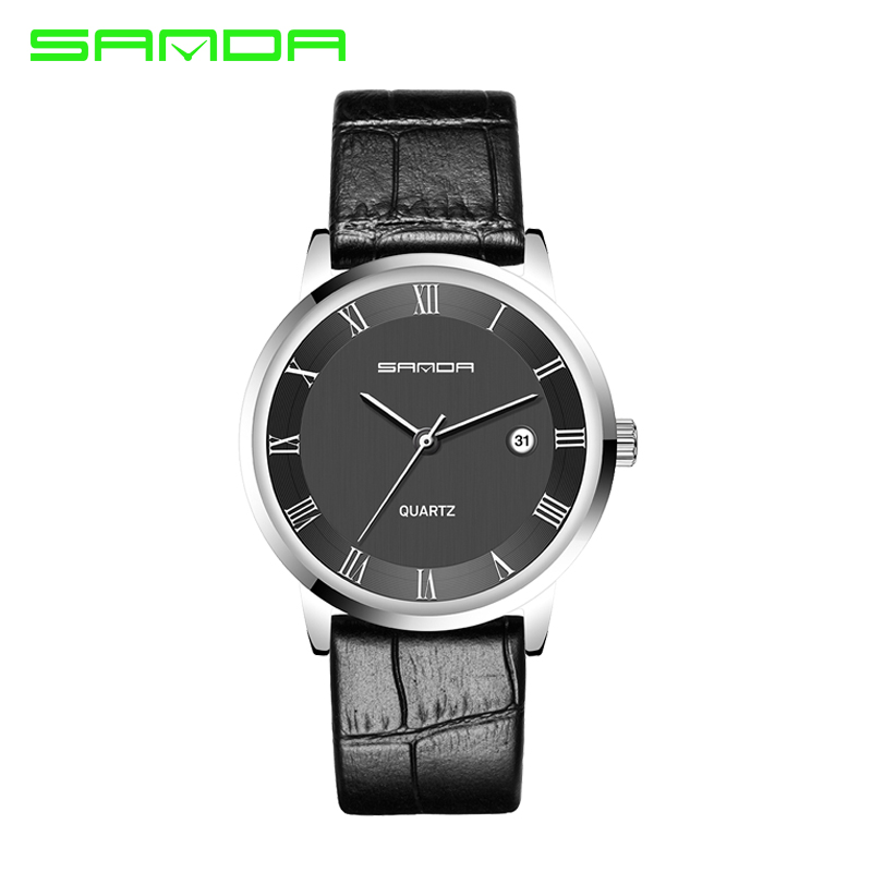 SANDA Mens Watches Top Brand Luxury Ultra Slim Calendar Display Quartz Watch Men  Business Leather Band Relogio Masculino<br><br>Aliexpress