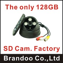 The only 128GB SD card camera factory, camera with 720P Resolution,support motion detection, used for office, home,warehouse(China)