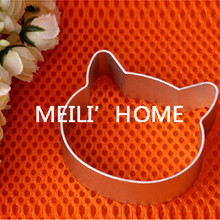 Christmas mold Tools Aluminium Alloy Cat Head Shaped Fondant Cookie Cake Sugarcraft Plunger Cutter Free Shipping 2698