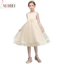 Real Photo First Communion Dresses For Girls Soft Tulle Flower Girl Dresses 2018 Princess Kids Prom Dress vestido comunion(China)