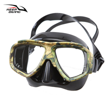 KEEP DIVING Professional Disguise Camouflage Scuba Dive Mask Myopic Optical Lens Snorkeling Gear Spearfishing Swim Goggles(China)