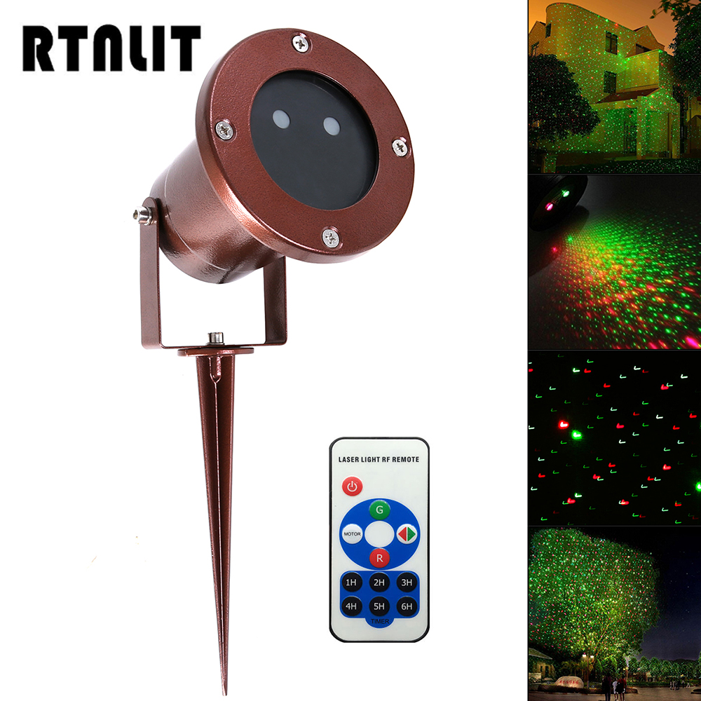 Outdoor Waterproof Green Red Garden Tree Laser Landscape Star Light RF Remote Decorative Projection Lamp for Christmas Halloween<br>