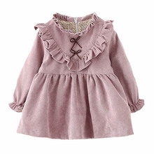 Toddler girl dress long sleeve 2016 Plus velvet winter baby girls dresses fashion kids clothes brand toddler little girl dresses