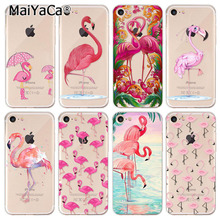 MaiYaCa  Beautiful Phone Accessories The latest  flamingos red animal birds Flamingo Cute Animals Birds For iPhone 7 Case