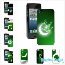 Retail Printed Pakistan flag art  cellphone Case Cover for iphone 4 5s 5c SE 6 6s 6plus 7 7plus Samsung galaxy s4 s5 s6 s7 edge