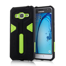 For Samsung Galaxy J3 [Cool Robot] PC + TPU Hybrid Cell Phone Back Case Armor Cover Dust Plug Drop Protection Fashion