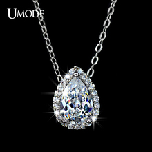 UMODE Water Drop Design Pear cut Top Quality AAA+ Cubic Zircon Pendant Necklace UN0021(China)