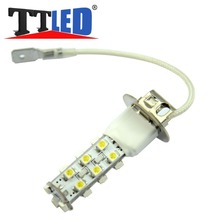TRICOLOUR 2 X H3 21 SMD 1210 3528 21smd Strobe LED Car Driving led lamp 12V White red blue Free shipping #TJ06-1