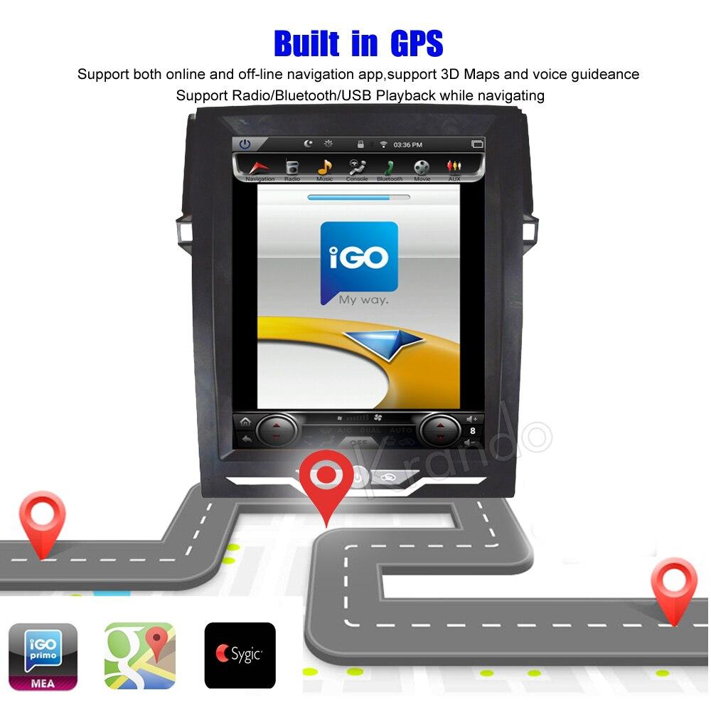 Krando Vertical screen android car radio multimedia for Toyota Reiz Mark 2010-2016 Big screen navigation with gps system (1)
