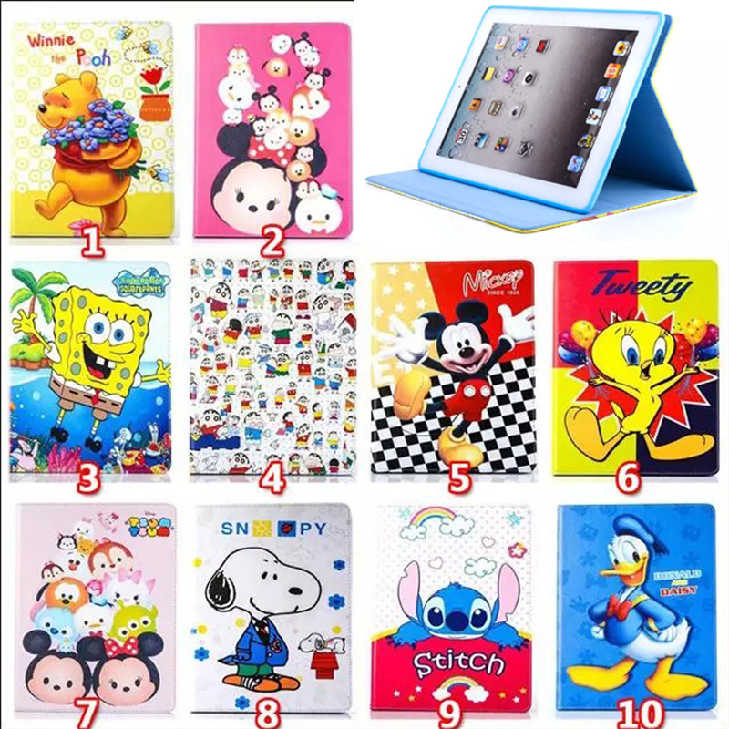 child cartoon fashion Mickey Mouse Leather cover case for ipad 2 ipad 3 ipad 4 stand smart Case for ipad A1460 A1459 A1458 A1416<br><br>Aliexpress