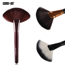 1 Pcs Professional Soft Large Fan Shape Makeup Brush Foundation Blush Blusher Powder Cosmetic Apply Dust Cleaning Beauty Tools(China)
