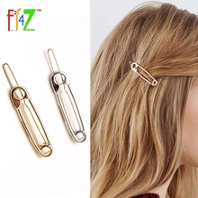 2016 Christmas Gifts Fashion golden Silver Metal Pin-Shaped HairPins Hair Clips Jewelry For Women Accessories pinzas de pelo