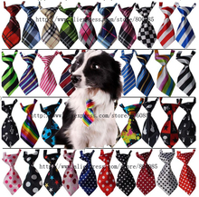 50pc/lot Factory Sale New Colorful Handmade Adjustable Pet Dog Ties Pet Bow Ties Cat Neck ties Dog Grooming Supplies(China)
