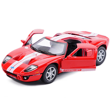 New 1/36 Scale USA 2006 Ford GT Diecast Metal Car Model With Pull Back Toy For Kids Birthday Gifts Collection Free Shipping(China)