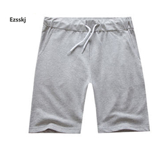 2017 Men Youth Pop Boys Solid Sports Baggy Loose Elastic Shorts Cotton String Beach Shorts Summer Baseball Short Pants
