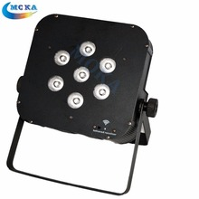 High Quality 4 IN 1 RGBW Wireless Battery Powered LED Flat Par Light DJ Stage Par Can Lighting for Stage Show
