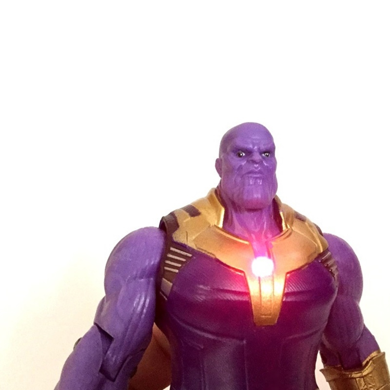 2PCS 6/'/' Marvel Avengers 3Infinity War Movable Joints Thanos Hulk Action Figures
