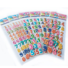 5PCS Cute Kawaii Numbers Letter Symbol Scrapbooking Bubble Puffy Stickers Emoji Teacher Reward Kids Toy Factory Direct Sales WYQ(China)