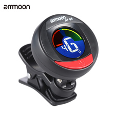 ammoon AT-05 Rotatable Guitar Tuner Digital Electronic Clip-On Tuner LCD Color Screen for Guitar Bass Chromatic Violin Ukulele