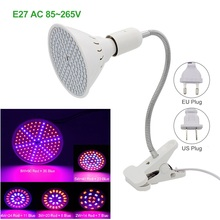 35 60 126 Led Grow Light AC 220V Indoor Desktop Hydroponic System Led Plant Grow Lamp With 360 Flexible Lamp Holder Clip(China)