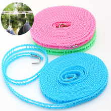 Adjustable Windproof Nylon Outdoor Anti Slip Slide Drying Clothes Hanger Clothesline Rope Line Cord String Camping Supplies  -50