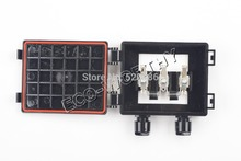 1 piece solar junction box for 50W -150W solar panel with 2 higth grade diodes, for PV solar panel , solar panel system *
