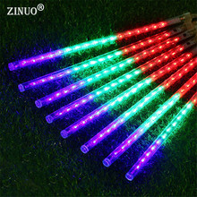 50CM 8PCS Meteor Shower Rain Tube String Light Outdoor Fairy String Garland LED 240Leds Garden Xmas String Light AC100-240V(China)